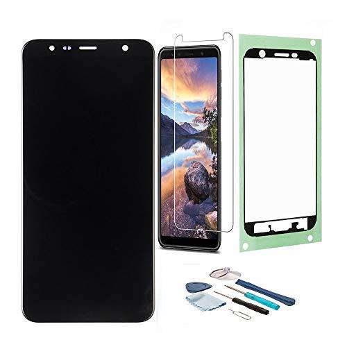 Pantalla LCD Táctil Asamblea Repuesto Compatible con Samsung Galaxy J6+ con Herramientas, Película Templada Samsung Galaxy J6+