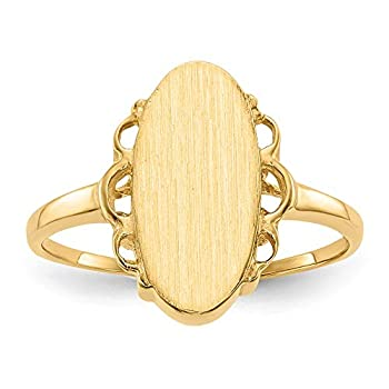 14k 14.5x7.0mm Open Back Signet Ring style RS201