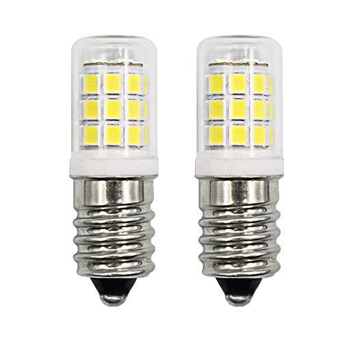 Bombillas LED E14 de 2,8 W, 30 W equivalentes a bombillas, intensidad regulable, luz blanca fría, 6500 K, pequeño tornillo Edison, lámpara de sal AC 220 – 240 V (paquete de 2)