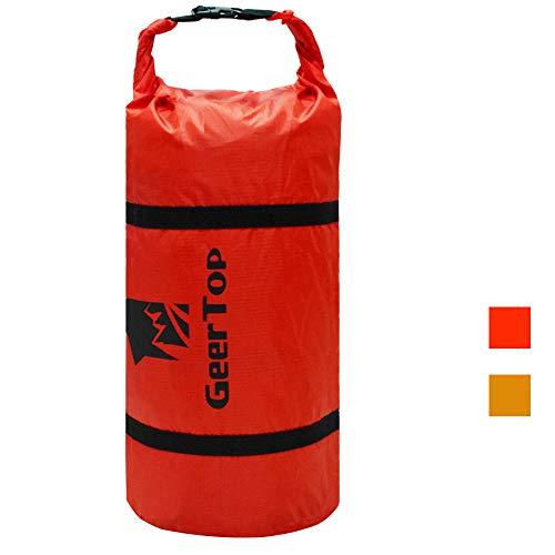 GEERTOP Ultraleichtes 20D Nylon Packsack Kompressionssack Seesack Für Zelt und Outdoor-Sportarten (Rot, Für 2 bis 3 Männer Zelt)