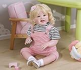 Zero Pam Reborn Toddler Dolls Girls Weighted Soft Body 70cm Muñeca Realista Niña Muñecas Reales Realistas para Bebés con Ropa (Blonde Hair)