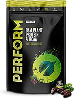 Vivo Life Perform - Raw Vegan Cacao Protein Powder | Pea & Hemp Protein Blend with BCAA | Gluten & Soy Free Protein Shake (988 Gram) | 26 Servings