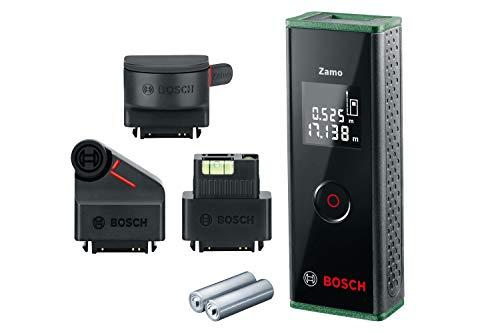 Bosch Home and Garden 603672704 Medidor láser de distancias Zamo Set, 3.a generación, alcance: 0,15– 20,00metros