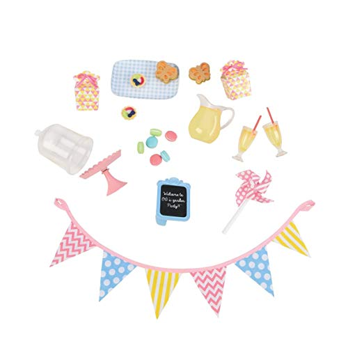 Our Generation BD37305 Garden Party Set Doll Accessories, Various