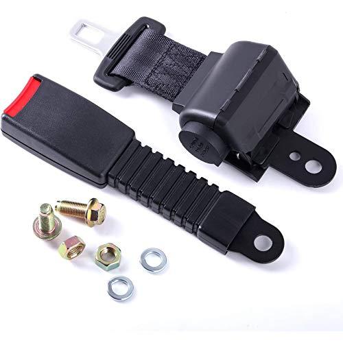 Kit De Cinturones De Seguridad Universales Retráctiles para Carrito De Golf, Dos Puntos con Autobloqueo, Cinturones De Seguridad Delanteros Traseros Que Se Retraen Automáticamente,1pcak