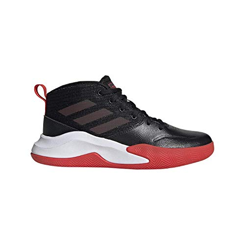 adidas Unisex-Kid's OwnTheGame Wide Basketball Shoe, Black/Active Red/White, 6 W US Big Kid