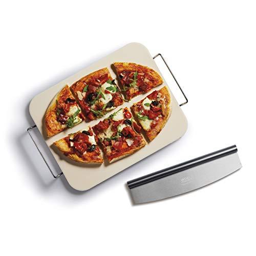 World Of Flavours Pizzastein-Set, groß, rechteckig