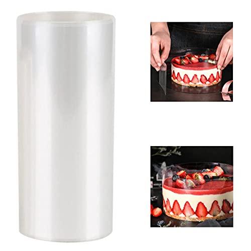Cozywind Acetato Transparente Pastel Borde Redondeado para Pasteles Mousse Tartas, Cinta de Envoltura Transparente para Hornear x1, 10 * 10cm, 10C