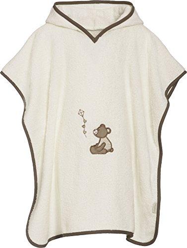 Playshoes kinder badstof capuchon poncho beer, praktische capuchon handdoek voor meisjes en jongens