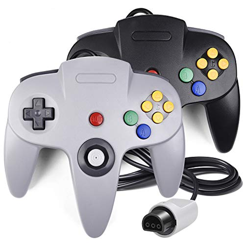 2 Pack N64 Controller, iNNEXT Classic Wired N64 64-bit Gamepad Joystick for Ultra 64 Video Game Console