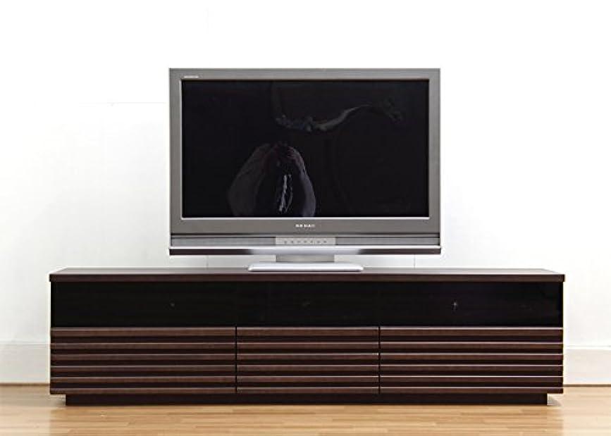 再生可能ベル誰か日本製 和風モダン 幅165cm ロータイプテレビボード ブラウン 完成品