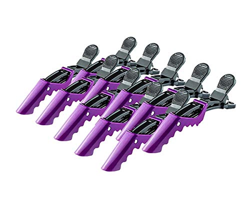 F-BBKO Plastic Alligator Hair Clips for Women With Hair Clip. Professional Hair Clipper With Hair Style and Segmentation. Wide Teeth and Durable Hair Salon Crocodile Hairpin. (Purple )