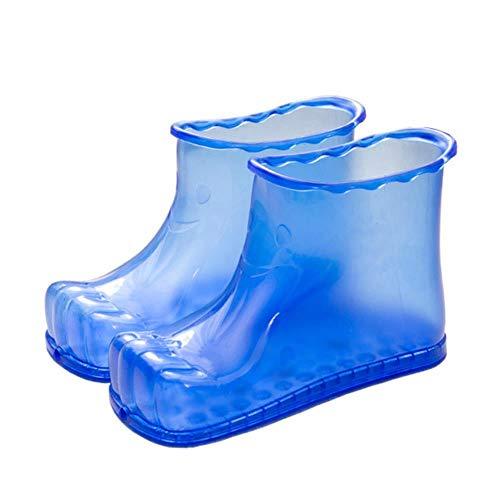 Nouvellement Baignoire Pour Pieds De Massage Bottes SPA Ménage Relaxation Seau Bottes Pieds Soins Chaud Compres Chaussures XSD88, Bleu 18 cm