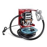 ARKSEN VD-32828TL Red 110-Volt Electric Diesel Oil Fuel Transfer Pump Self Priming Display Meter with 13' ft Hose & Fuel Nozzle Kit