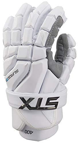 STX Lacrosse Surgeon 400 Gloves, Large, White
