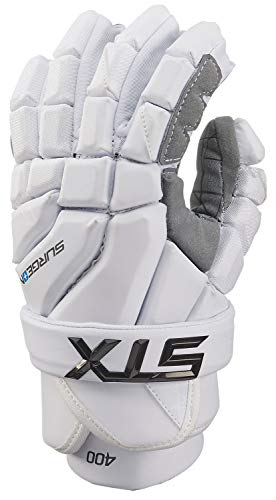 STX Lacrosse Surgeon 400 Gloves, Large, White