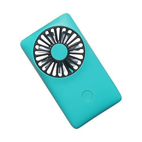 USB Tischventilator Ventilator, Handventilator Ventilator Ventilator USB Mini Ventilator 3 Geschwindigkeiten, USB Lüfter Geräuscharm, USB Fan Einfach zu Tragen, für Büro, Zuhause und im Freien (Grün)