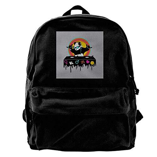 DJ Panda Monium Rusa Gym Hiking Laptop Shoulder Bag Daypa for Men Women