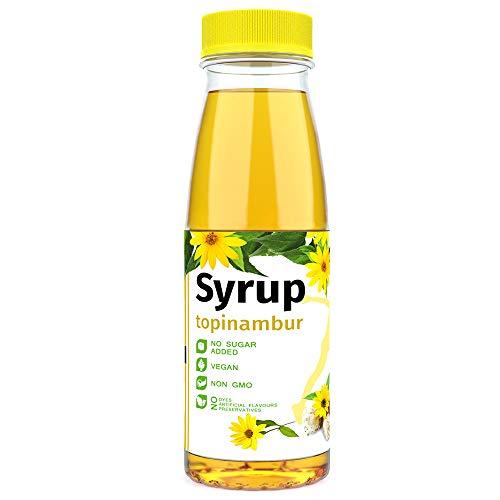 Zuckerfrei Sirup Topinambur Vegan 330gr Alkoholfrei - 100% natürlicher Zuckerersatz zum Backen oder Kochen - Wenig Kohlehydrate