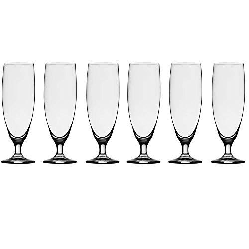 Stölzle Lausitz 0,3l Biertulpe der Serie Imperial I 375 ml Volumen I 6er Set I formschöne Biergläser I bleifreies Kristallglas I spülmaschinenfest I hochwertige Qualität