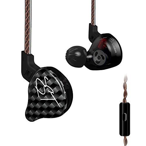 YHML Audífonos intrauditivos, audífonos con música Heavy Bass, audífonos Deportivos, Gimnasio, audífonos estéreo de Alta definición con micrófono, audífonos Bluetooth con reducción de Ruido