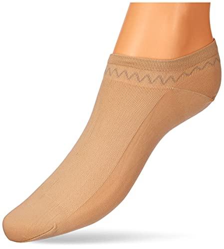 Nur Die Damen 6er Feines Schuhsöckchen Strumpfwaren, Mandel, 39-42 Pack