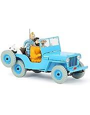 Coche de Tintín escala 1/24 del Jeep Willys CJ2A de Objetivo: La Luna