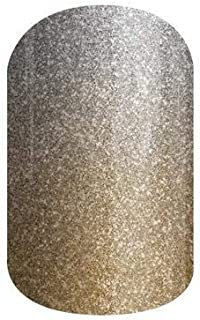 Jamberry Nail Wraps - All That Glitters - HALF Sheet - Gold Tan Silver Sparkle Ombre