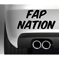 South Coast Stickers FAP NATION CAR BUMPER STICKER FUNNY BUMPER STICKER CAR VAN 4X4 WINDOW PAINTWORK DECAL GRAPHIC
