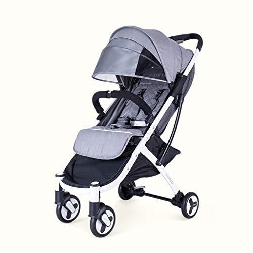 JYXJJKK Baby Stroller Can Sit, Reclining, Folding, Children's Trolley, Baby Umbrella, Travel And Play, Outdoor Ultra-light Portable Car (Color : A)