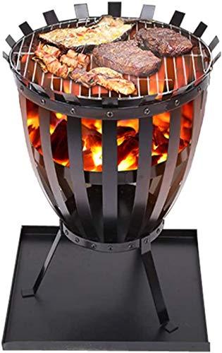 Gietijzeren Tuin Vuurkorf Mand Patio Houtskoolbrander Vuurpot Huishoudelijke Pot Ronde Houtskoolvuurpot Verwarming Winter Draagbaar
