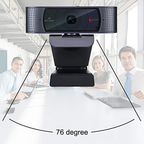 HD Webcam 1080P mit Schiebeabdeckung und Mikrofon, Angetube USB Kamera Computer professionelles Video-Streaming für Xbox One Gaming Conferencing Mac Windows PC Computer Laptop Skype YouTube OBS Twitch