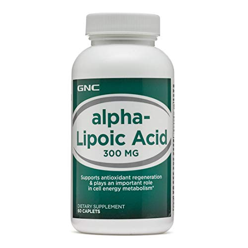 GNC Alpha-Lipoic Acid 300mg, 60 Caplets, Supports Antioxidant Regeneration