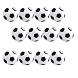 BESPORTBLE 12 Pcs Table Soccer 31mm Foosball Replacement Balls Mini Table Footballs Soccer Game Ball Accessory (Black)