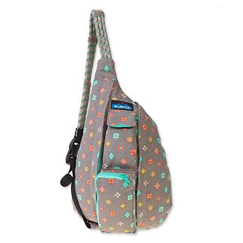 KAVU Mini Rope Bag Cotton Crossbody Sling  - Fun Foulard