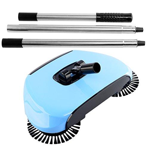 iTECHOR Cleaner Macchina Hand push Scopa da Sweeper con Spazzola rotante per casa pavimento domestici - Blu
