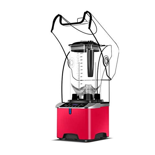 unknow Tragbarer Mixer, leistungsstarker persönlicher Mixer für Smoothies und Milchshakes, Mini-Mixer-Jet mit Glasflasche, rot, kühler Sommer beginnt Hier