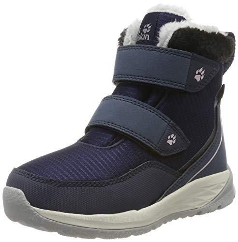 Jack Wolfskin Unisex Kinder Polar Wolf Texapore MID VC K Wasserdicht Bootsschuh, Dark Blue Off White, 34 EU