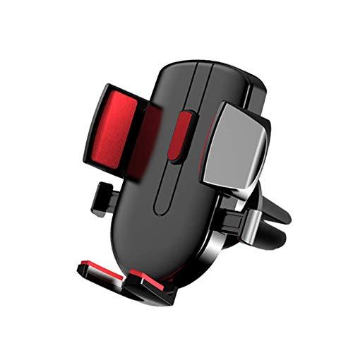 ZHTY Soporte de teléfono Coche Universal Air Vent Coche Montaje de teléfono con un botón de botón y Clip de Doble tamaño para iPhone 11 12 Pro MAX y más Celular, Negro Song (Color : Red)