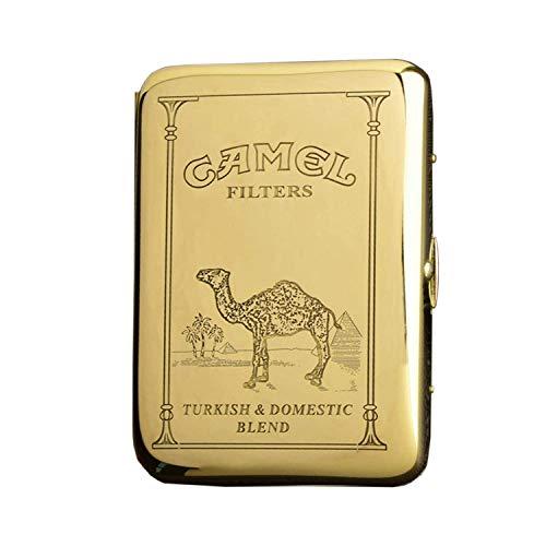 Zigarettenetui für 16 Zigaretten, Vintage, Metall, Kupfer, Camel, Raucher-Boxen, tragbar, wasserdicht, Zigarettenetui, 9,5 x 7 cm