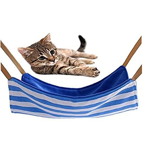 Jorzer Pet Hamak Miekkiej Bawelny Plush Dwustronna Kot Cage Hanging Swing Bed with Blue White Stripes Na Ferret Puppy Bunny