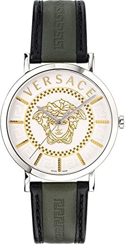 Versace V-Essential VEJ4001 21 - Reloj de pulsera para hombre (40 mm, acero inoxidable)