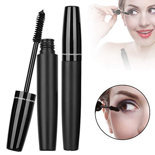 3D Mascara, 2Pcs Black Tube Eyelash Fiber Set Dense Curling Eyelashes Extension Cosmetic