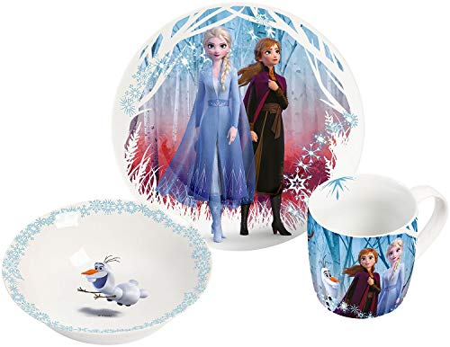 La Reine Des Neiges Set Petit-Déjeuner Ensemble petit déjeuner multicolore