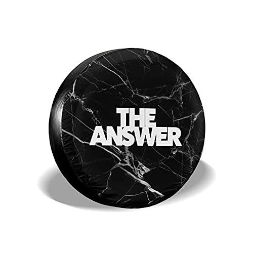 VJSDIUD Cubierta de llanta The Answer Spare Wheel Tire Cover Waterproof for Trailer RV SUV Truck Camper Accessories