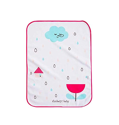 [Regen-Blume] Baby-nette Muster-Windel, die Auflage-Urin-Matten-Abdeckungs-Bett-Windel ändert