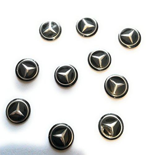 Pegatinas Mercedes Lote 10 Piezas Emblema Llave Coche Radio