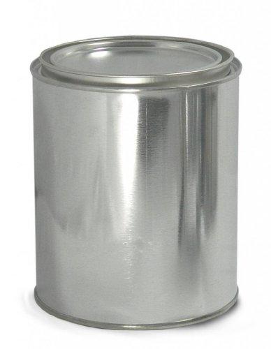 Qorpak MET-03088 metalen doos ongelinieerd, rond, met Triple Tite deksel en zekeringsclips, 214 mm diameter x 214 mm hoogte, 48 stuks