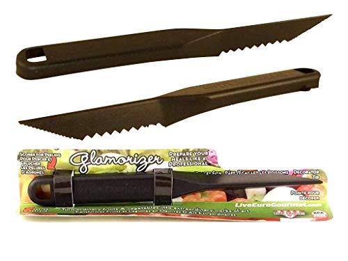 New Euro-gourmet Glamorizer Creative Plastic Carving Knife Tool Fruit/ Vegetable Carving Knife, Melon Baller, Cutter, Multifunction DIY Kitchen Tool for Family