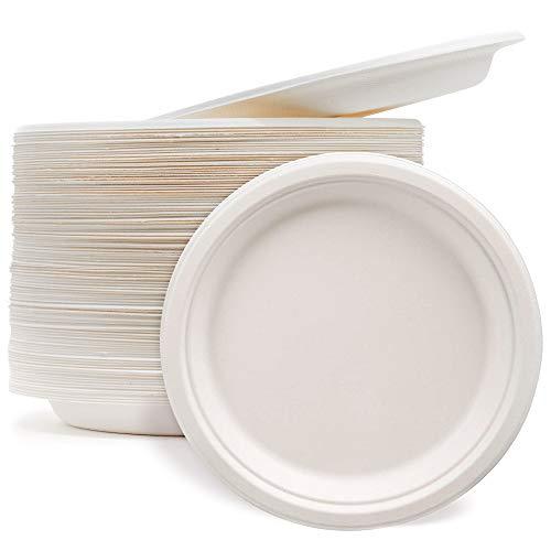 Pappteller 400 Stück Ø23cm weiß Catering Einwegteller Imbissteller Partygeschirr